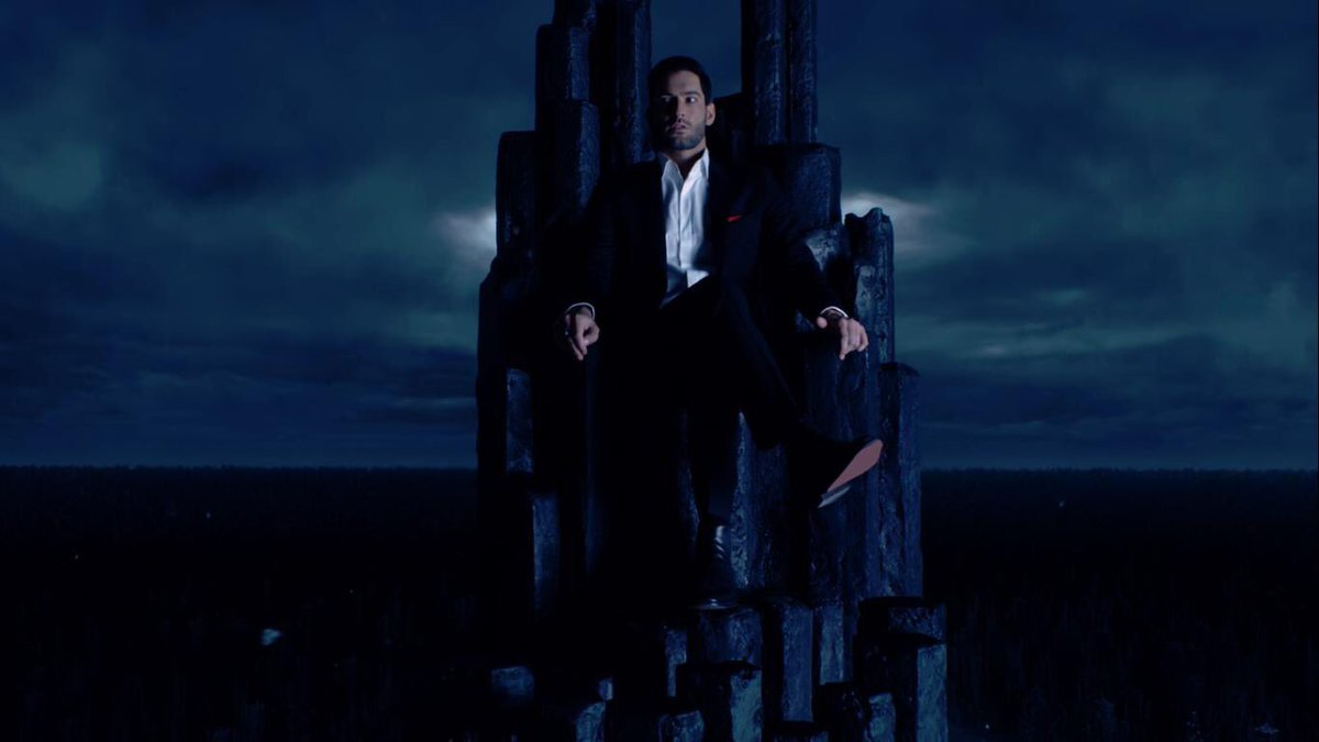 Lucifer Morningstar on the throne of hell.