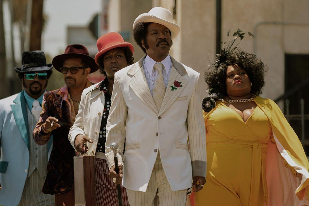 Eddie Murphy and Da'Vine Joy Randoph, who were both overlooked by the Oscars, in Dolemite Is My Name.