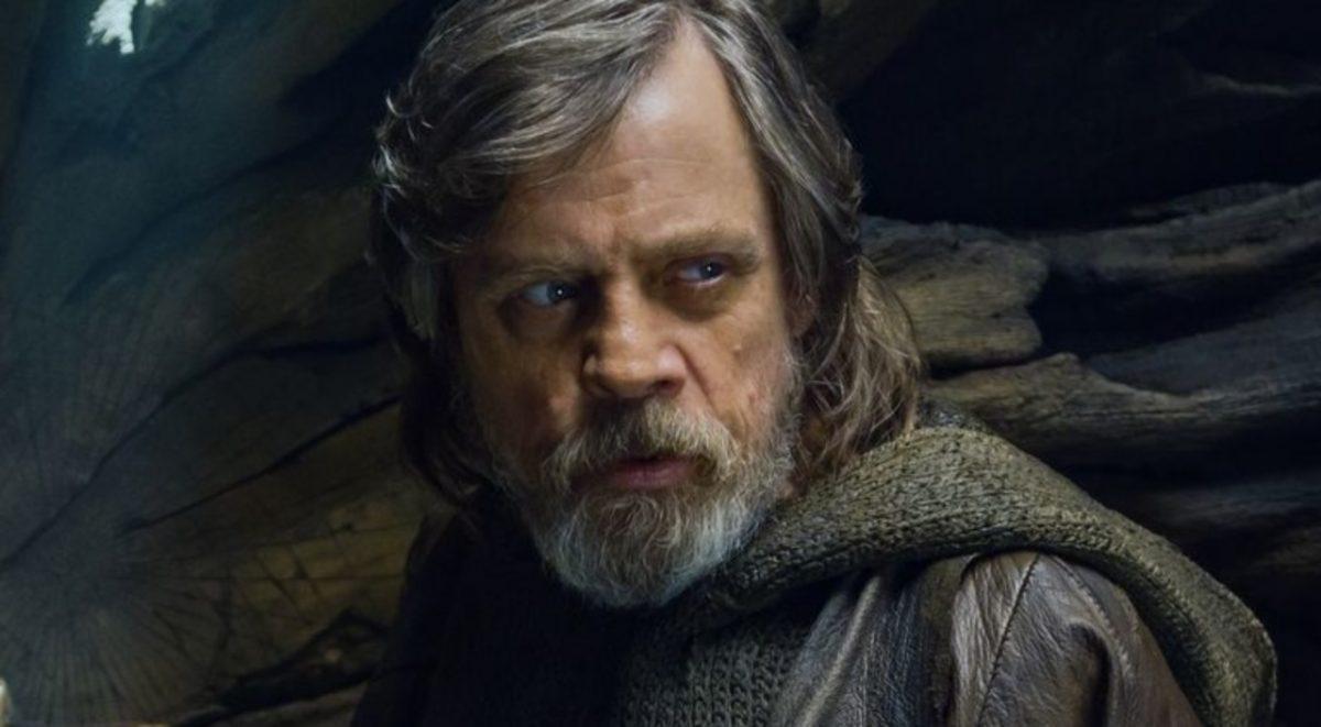 Luke Skywalker in The Last Jedi.