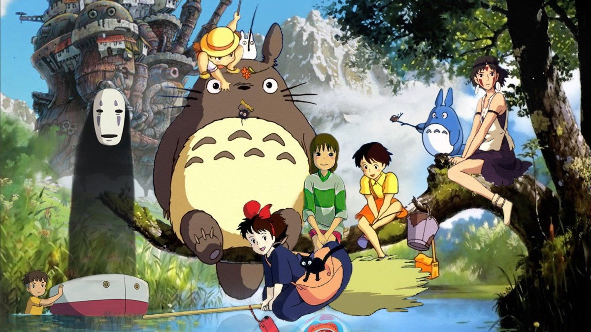 A college of selected main characters from Studio Ghibli's filmography.