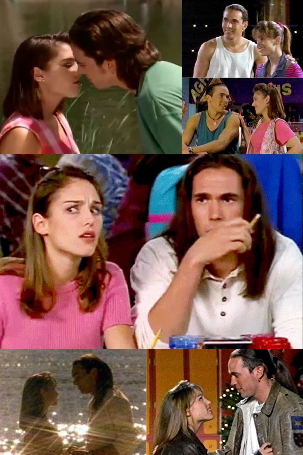 Various moments of Kimberly Hart and Tommy Oliver from MMPR.
