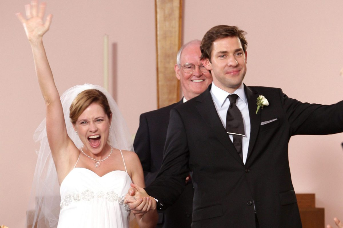 Jim and Pam getting married