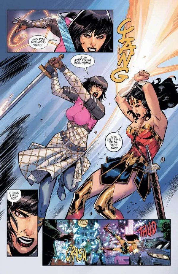 Wonder Woman #752, Page #6: Wonder Woman fights with Valda