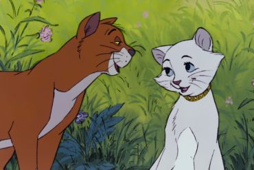 Duchess and Thomas O'Malley in The Aristocats.