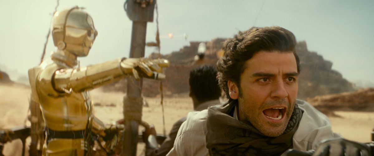 Poe Dameron on the desert planet Pasaana
