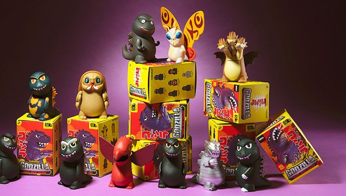 Blind boxes of Godzilla miniature designer art toys.