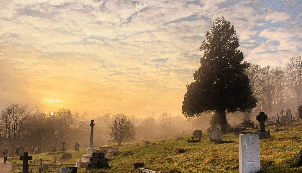 A peaceful cemetery where characters who deserved better endings go