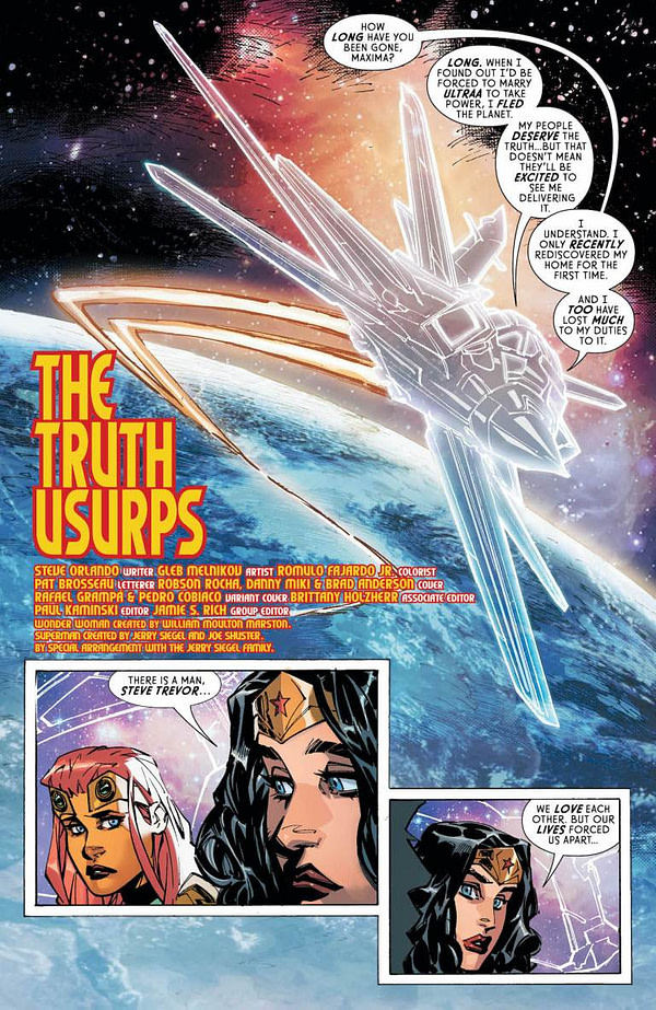 Wonder Woman #754, Page #6: Diana and Princess Maxima fly in the invisible jet.