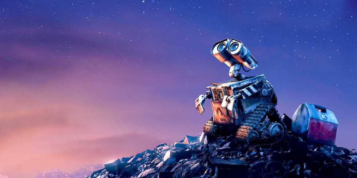 Wall-E drifting among the wonders of space, touching something blue and majestic.