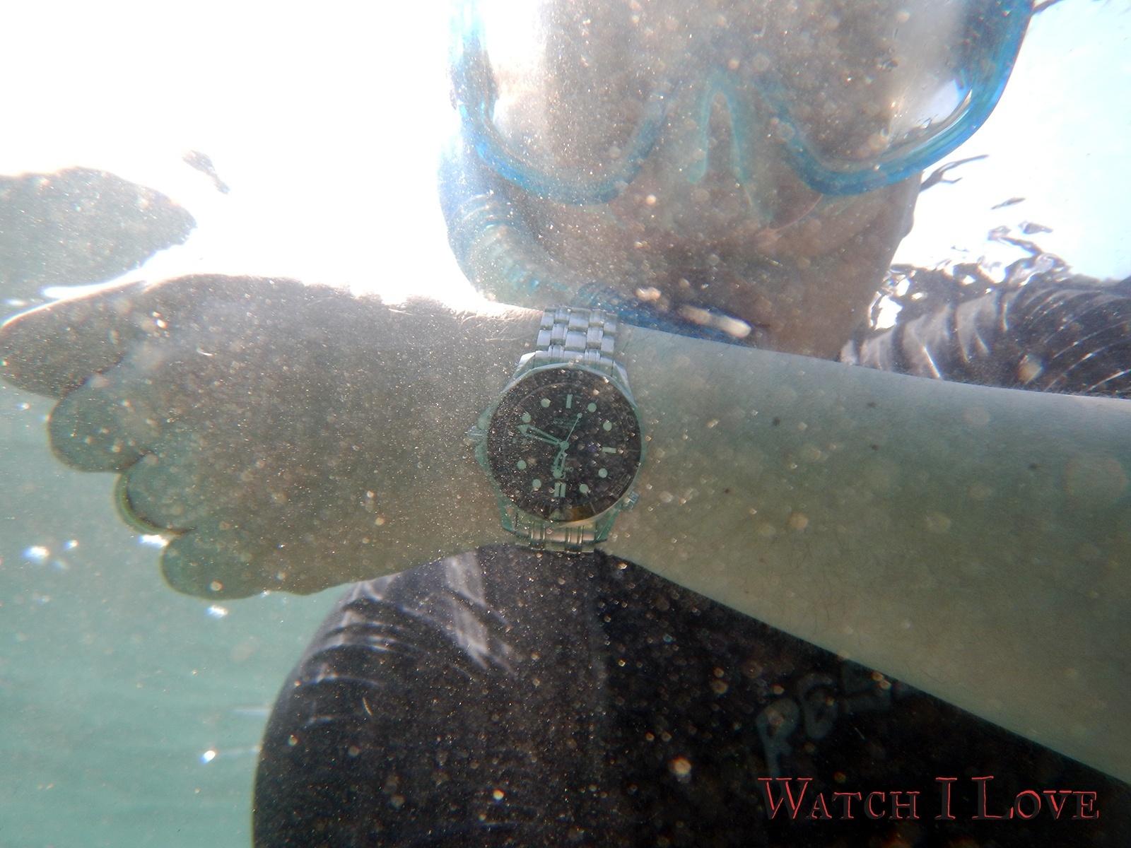 Seamaster Professional at snorkelling