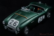 An Aston Healey model car find in the retail package of the Frederique Constant Vintage Rally Healey Chronograph watches