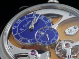 Romain Gauthier Insight Micro-Rotor dial with blue enamel time display
