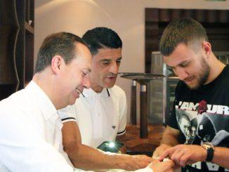 Christophe Claret Loma launch with Vasyl Lomachenko