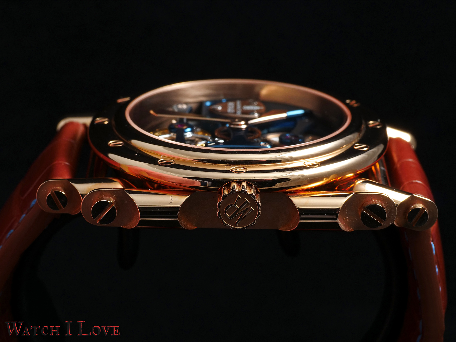 Androgyne Light Blue Rose Gold side view