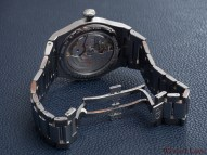 The back view of the Laureato with open clasp and see-through case-back