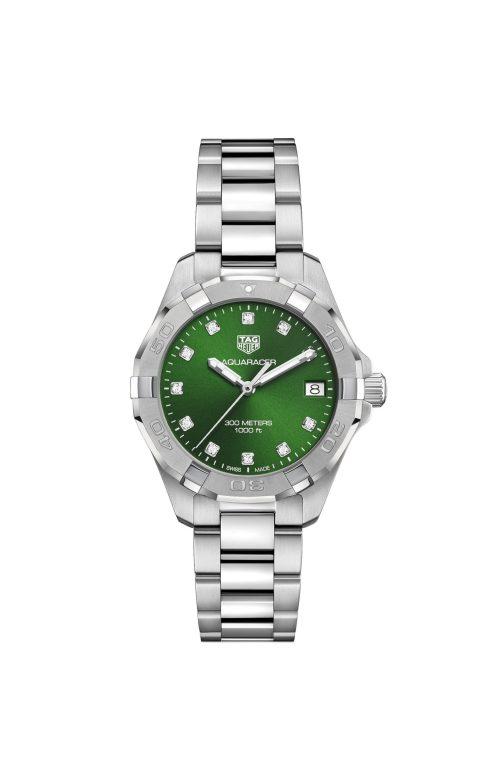 TAG Heuer Aquaracer Ladies Green Dial Ref. WBD1316.BA0740