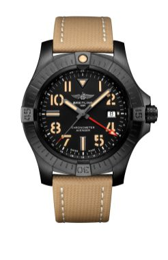 avenger-automatic-gmt-45-night-mission-in-dlc-coated-titanium-with-black-dial-and-sand-leather-military-strap-1