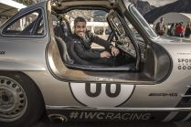 "AROSA, SWITZERLAND – 01. September 2019: Max Loong attended the 15th Arosa Classic Car where the IWC Racing Team showed up on the grid for the second time. Bernd Schneider drove the Mercedes-Benz 300 SL ""Gullwing"" on the winding 7.3 kilometre hill-climb route from Langwies to Arosa. (Photo by Ilja Tschanen for IWC)"