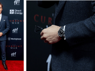 Benedict Cumberbatch wears Jaeger-LeCoultre Polaris Memovox @ The Current War Premiere