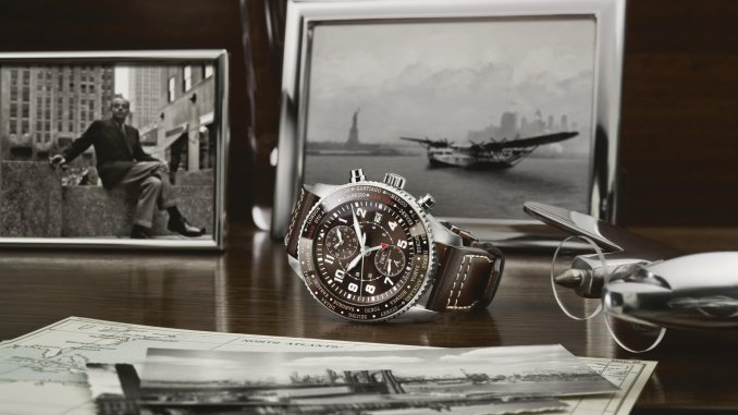"PILOT'S WATCH TIMEZONER CHRONOGRAPH EDITION ""80 YEARS FLIGHT TO NEW YORK"""