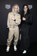 NEW YORK, NEW YORK - MARCH 12: Ashlyn Harris and Ali Krieger attend The Launch of The New Connected Watch by TAG Heuer at The Caldwell Factory on March 12, 2020 in New York City. (Photo by Brian Ach/Getty Images for TAG Heuer )