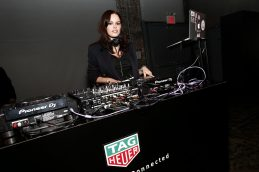 NEW YORK, NEW YORK - MARCH 12: DJ Atlanta de Cadenet performs during The Launch of The New Connected Watch by TAG Heuer at The Caldwell Factory on March 12, 2020 in New York City. (Photo by Brian Ach/Getty Images for TAG Heuer )