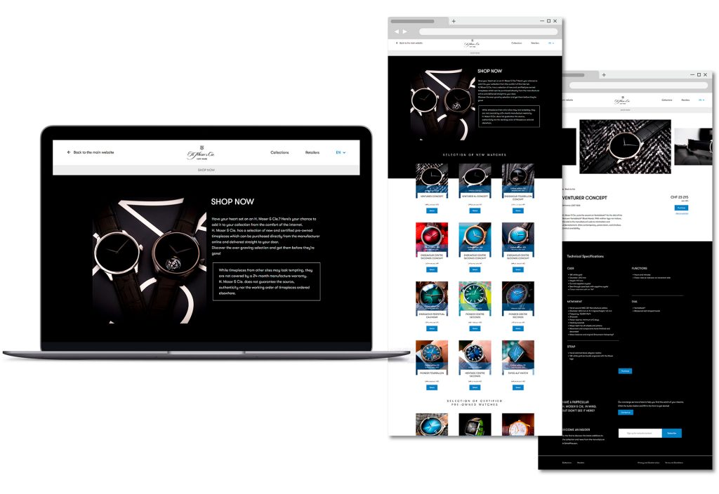 H. Moser & Cie E-commerce Website