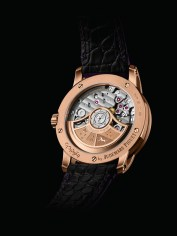 The dedicated 22-carat oscillating weight of this Selfwinding model is visible through the sapphire caseback.