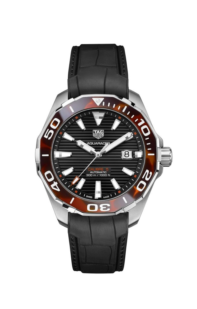 TAG Heuer Aquaracer 43 mm Tortoise Shell Effect Calibre 5 Automatic in Brown