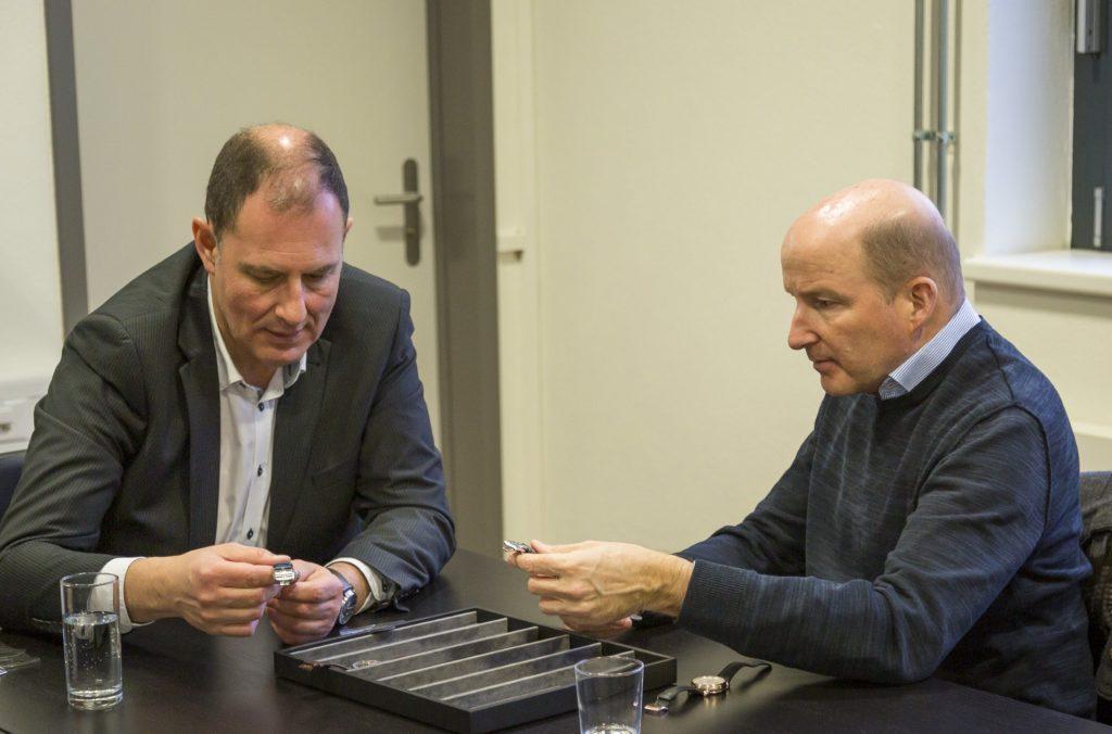 Mauro Egermini, CEO of Schwarz Etienne and Kari Voutilainen
