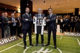 Miralem Pjanic and Paulo Dybala next to Ricardo Guadalupe