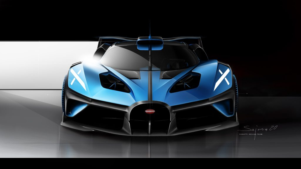 Design sketch Bugatti Bolide front - Nils Sajonz, Bugatti Design