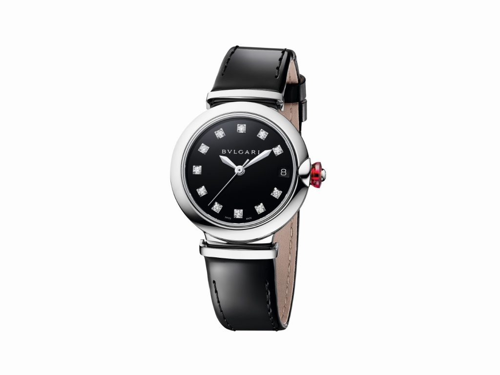 LVCEA STEEL BLACK LACQUERED DIAL 103503