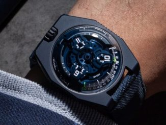 "URWERK presents the UR-100V ""Blue Planet"""
