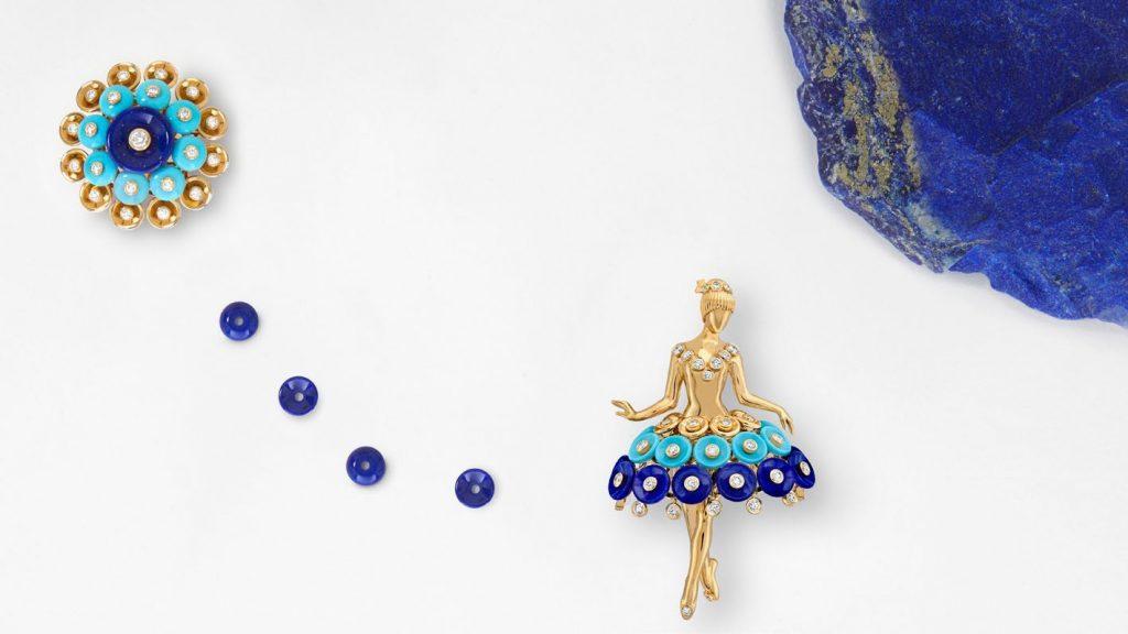 Bouton d'or ballerina clip