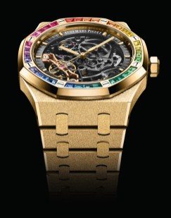 Royal Oak Frosted Gold Double Balance Wheel Openworked
