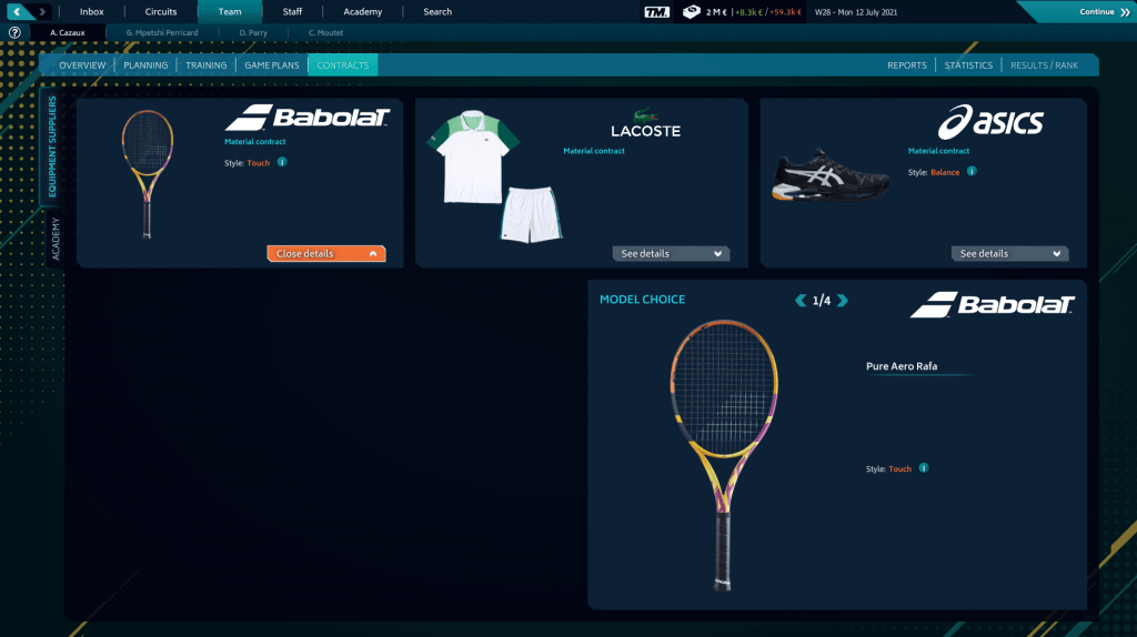 Tennis Manager 2021