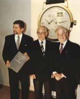 Günter Blümlein, Walter Lange and Saxon Prime Minister Kurt Biedenkopf during the first presentation at Dresden Royal Palace on 24 October 1994