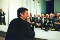 Günter Blümlein at the first presentation in the residential palace in Dresden on 24 October 1994