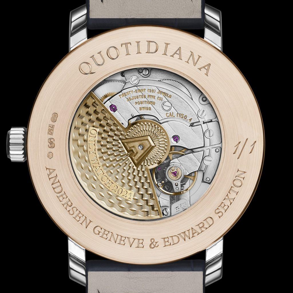 ANDERSEN Genève x Edward Sexton Quotidiana Only Watch 2021