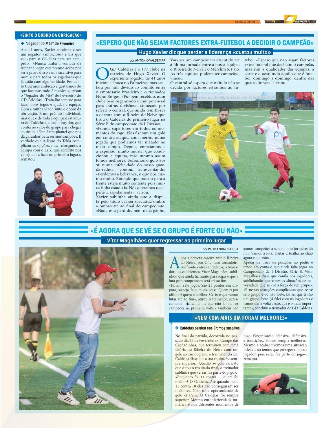 Caldelas recebe o Palmeiras no domingo