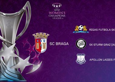 SC Braga já conhece adversárias na Liga dos Campeões