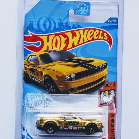 "Hot Wheels 2020 Muscle Mania 2018 Dodge Challenger SRT Demon ""JEGS"" (Super Treasure Hunt) GHG24"