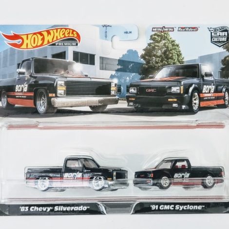 Buy Hot Wheels 2021 Target exclusive Car Culture Borla Performance 2pack HBL98 at JTC Collectibles. Featuring the 1983 Chevy Silverado and 1991 GMC Syclone.