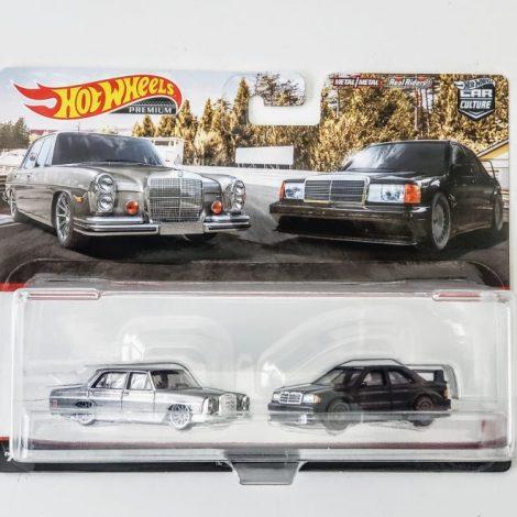 Hot Wheels 2021 Car Culture 2 Pack Mercedes-Benz 1972 Mercedes-Benz 280 SEL 4.5 and Mercedes-Benz 190 E 2.6 16 Target Exclusive HBL99