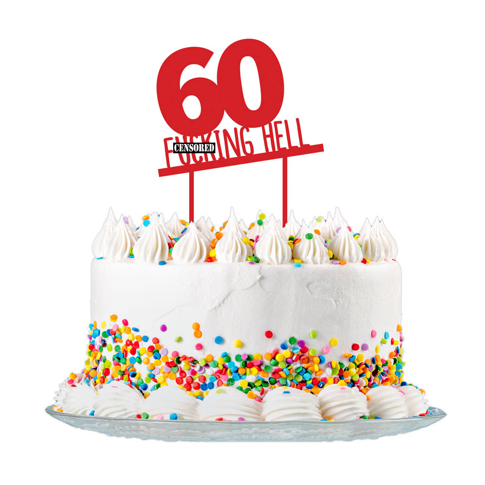 60th Birthday Cake Topper Party Decorations 60 Today For Men Women 3mm Acrylic Ebay