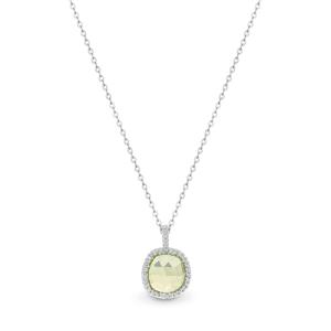 Semi precious lemon quartz pendant_0