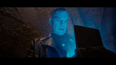 Johann Schmidt holding the Tesseract