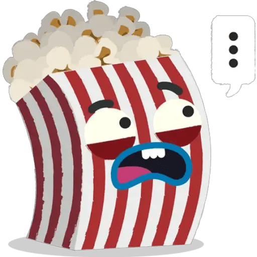 Popcorn Stickers For Whatsapp