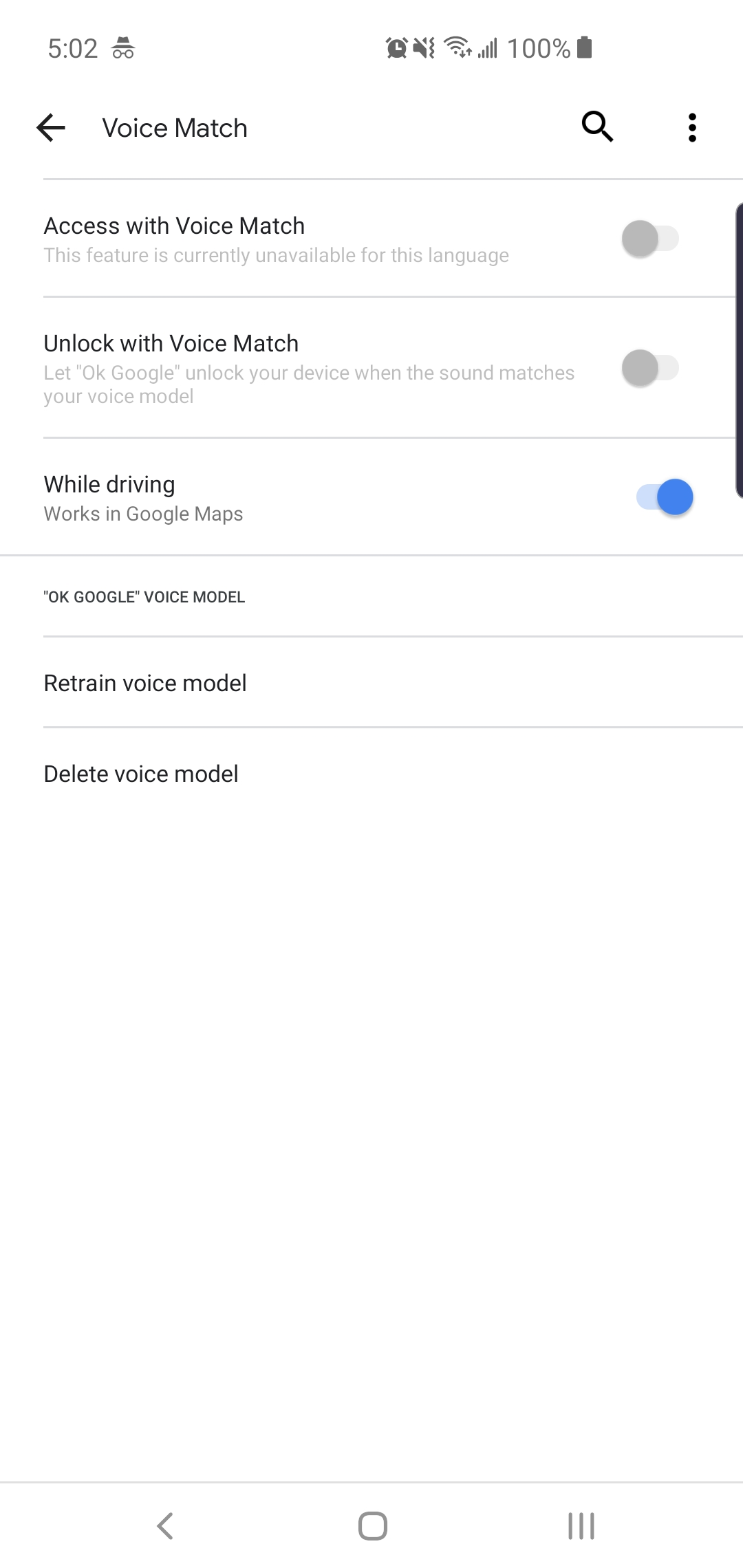 Ok Detection Not Working Cannot Turn On Voice